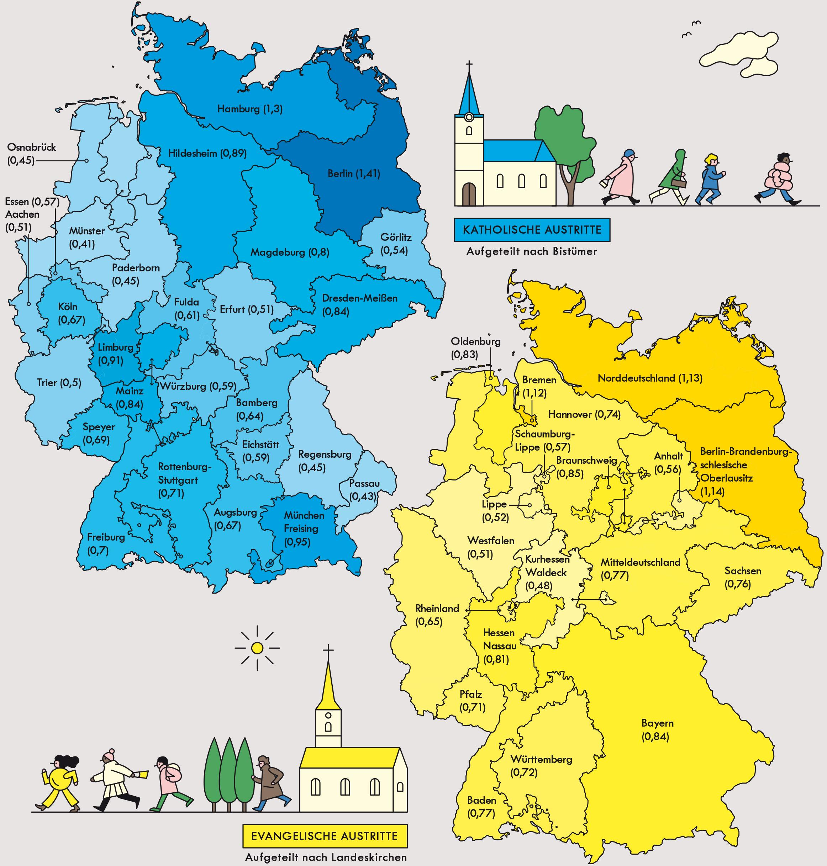 Deutschland: Kirchenaustritte