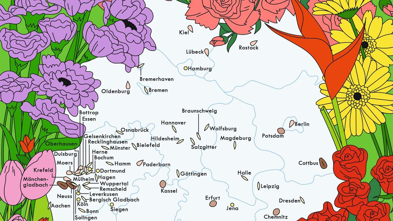 Vorwahlen Deutschland Karte.Deutschland Blumenläden Zeitmagazin
