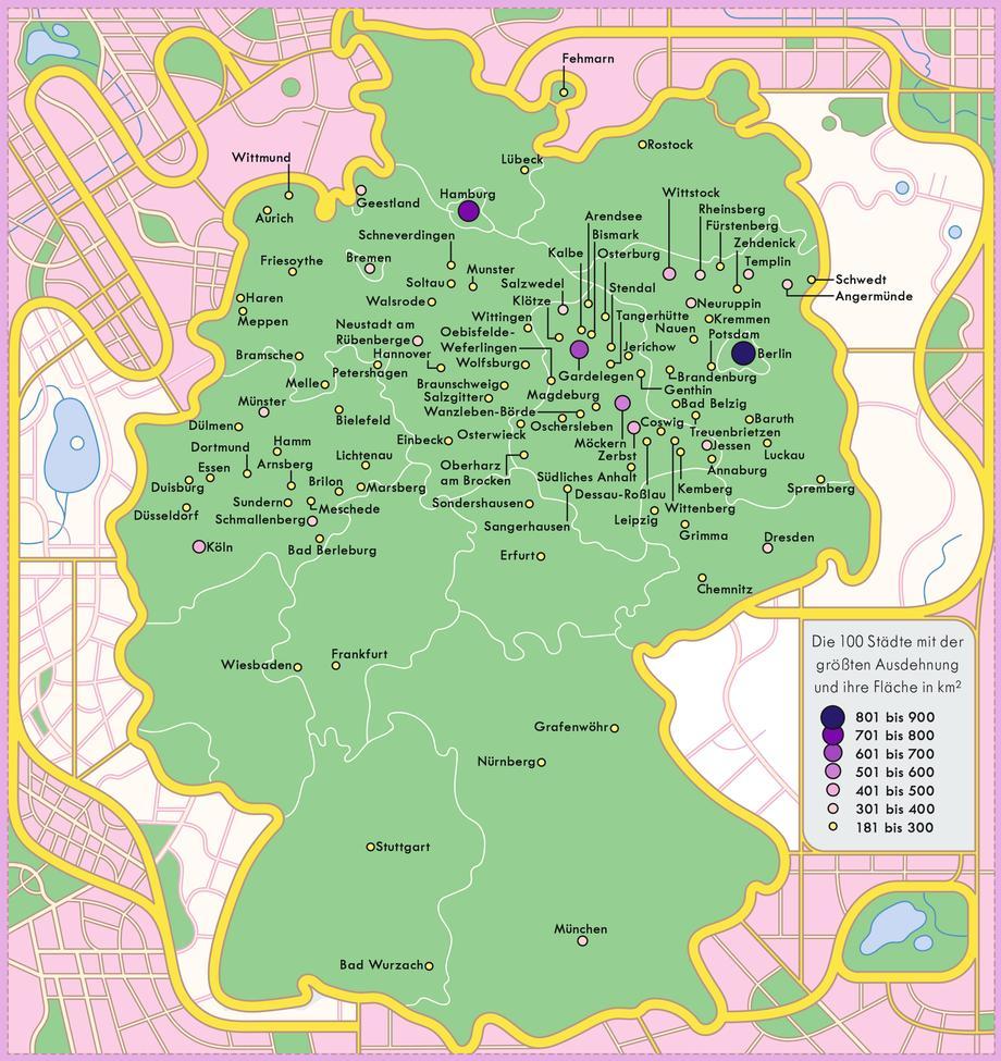 Niedersachsen Karte Mit Städten.Deutschland Die Größten Städte Zeitmagazin
