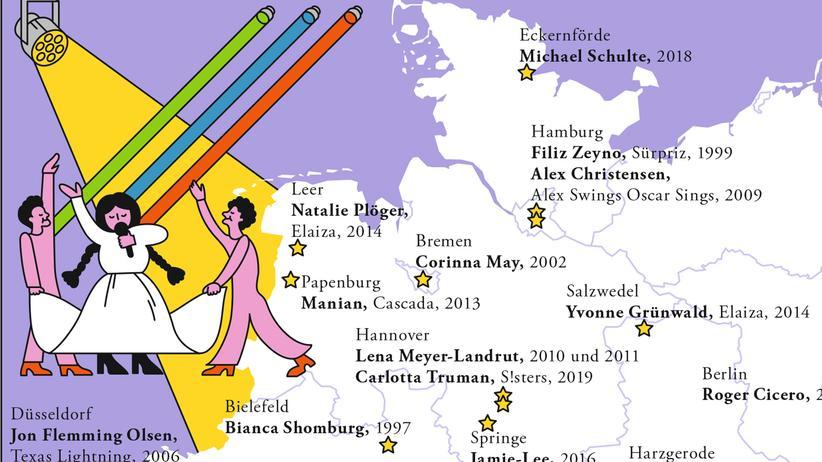 Eurovision Song Contest: Von hier bis Trier