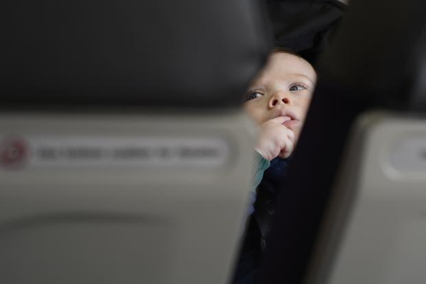 Japan Airlines: Baby an Bord