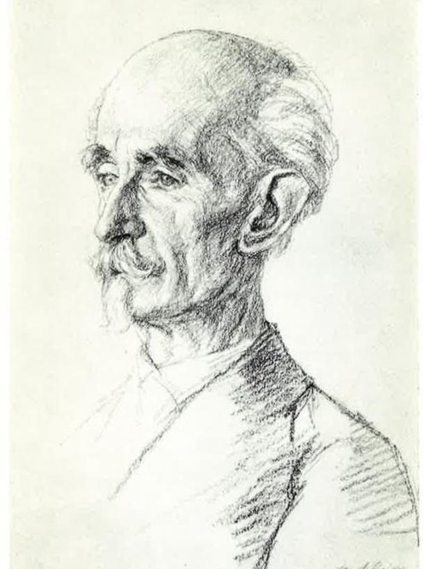 Die Zeichnung von Bruno Gutmann hing immer über dem Esszimmertisch der Großmutter.