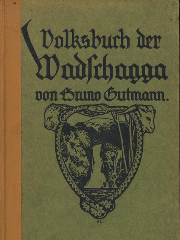 """Buchcover """"Das Volksbuch der Wadschagga"""""""
