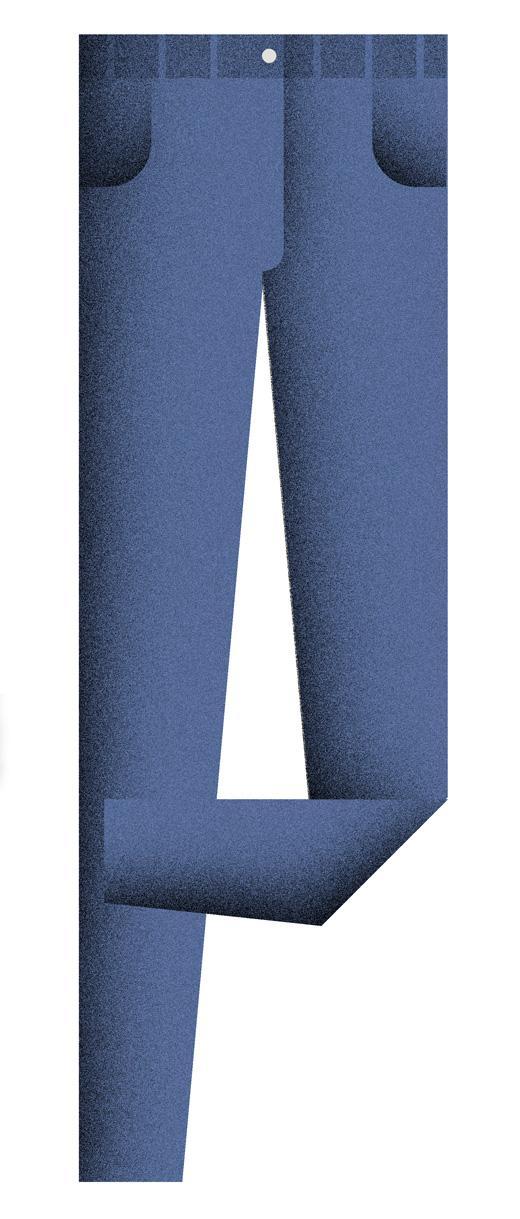 Blaue jeans auffrischen