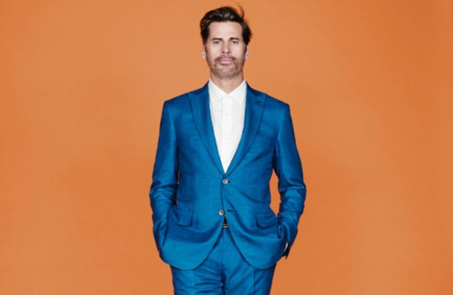 Männermode: Blau auf Orange. Warum nicht?
