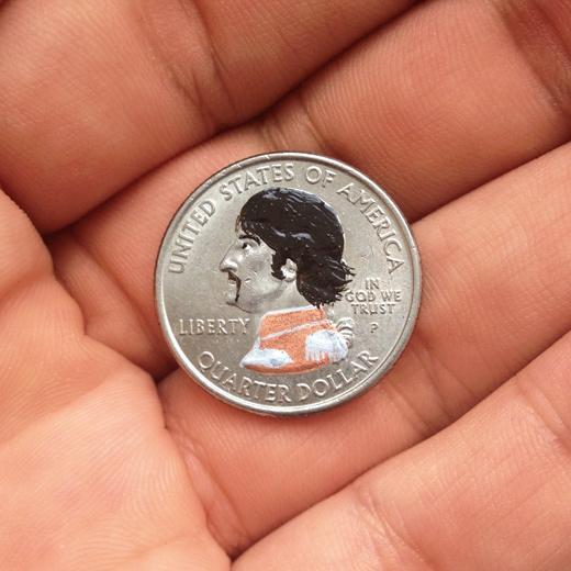Ich gab einem schmutzigen Penner heute einen viertel Dollar. I gave a quarter to a dirty bum today. Grob geschätzt würde ich sagen, wir sind ein viertel bis ein halbes Pfund schuldig.