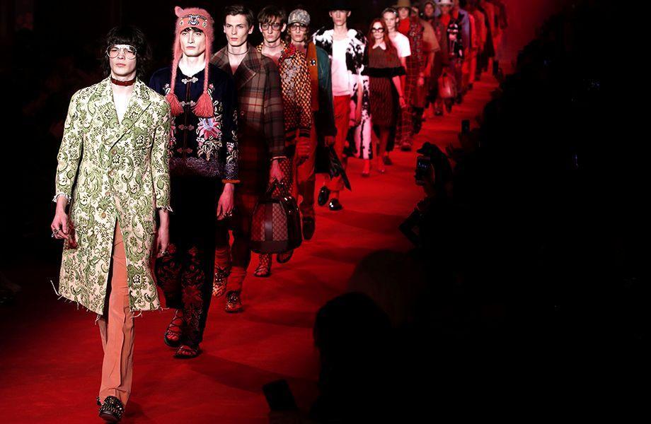 Männermode: Designer Alessandro Michele hinterfragt für Gucci, was typisch männlich ist.