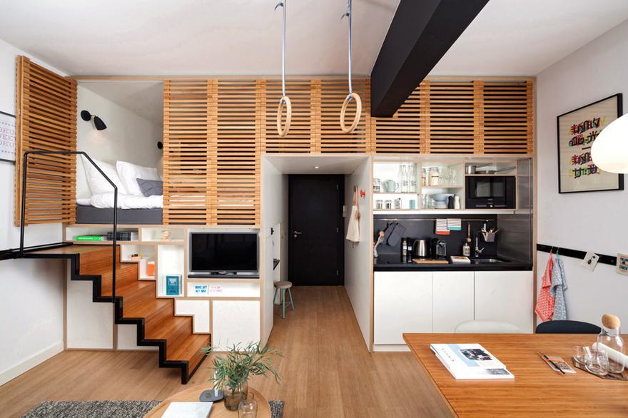 1/15 Das Zoku Loft Des Niederländischen Architektur  Und Design Büros  Concrete Empfängt Seine Gäste In Amsterdam Als Offen Geschnittener Hybrid  Zwischen ...