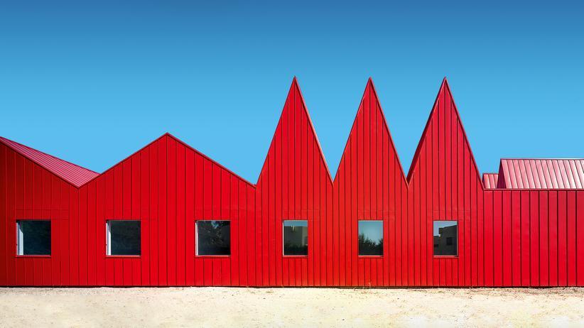 Architektur in Rot: Bei diesen Häusern knallt es
