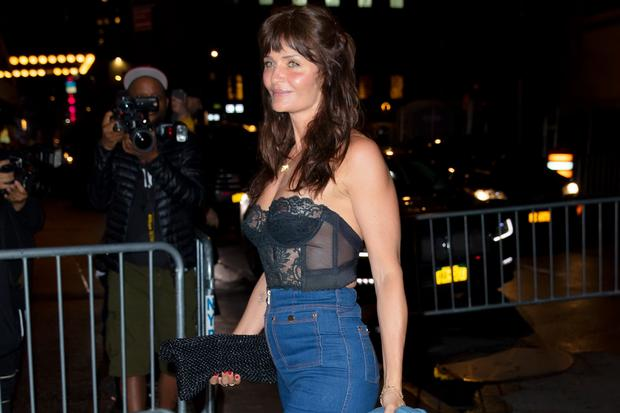 Helena Christensen: NEW YORK, NY - APRIL 22:  Helena Christensen arrives at Gigi Hadid's birthday party at Chalet on April 22, 2019 in New York City.  (Photo by Gotham/GC Images)