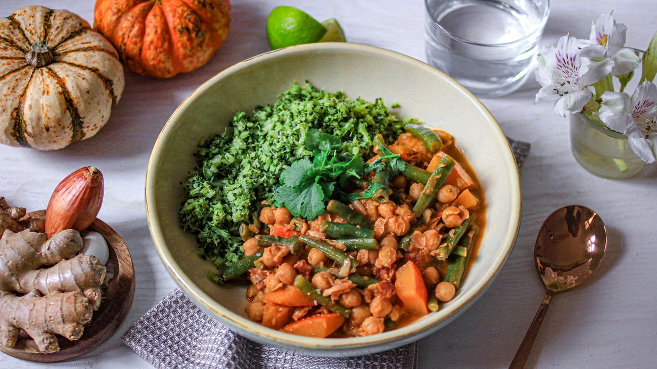 Kichererbsen-Curry mit Brokkoli-Reis: Mehr Curry, weniger Beilage