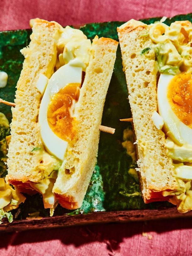 Eiersalat-Sandwich: Ei hoch zwei
