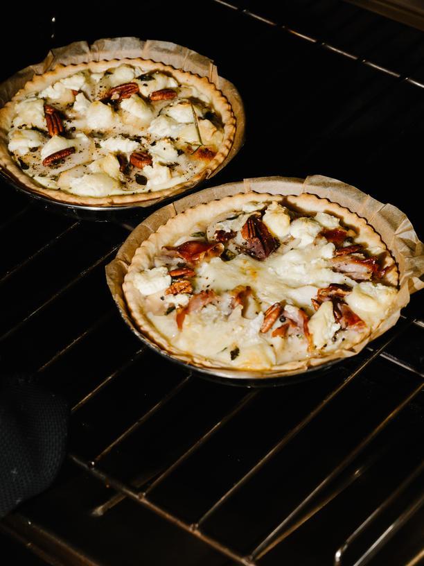 Flammkuchen mit Birnen und Ziegenfrischkäse: Entflammt für die Birne