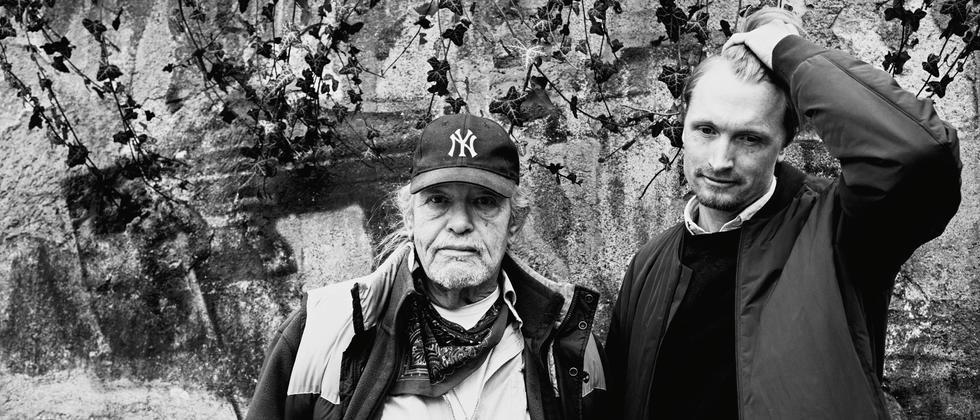Vater Nikki mit Sohn Kaspar in ihrer Heimat München